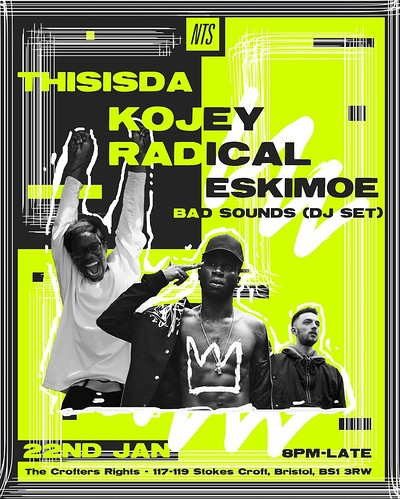 NTS Presents: Kojey Radical, ThisisDA, Eskimoe at Crofters Rights in Bristol