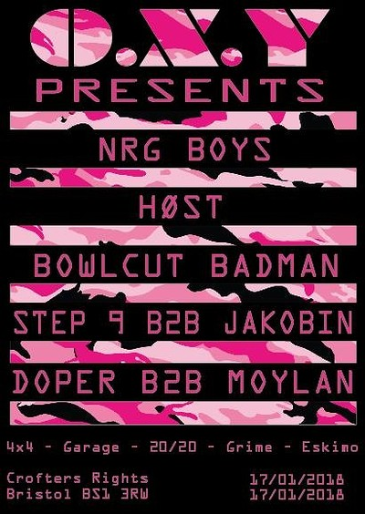 O.X.Y Presents: New Years Nangers at Crofters Rights in Bristol