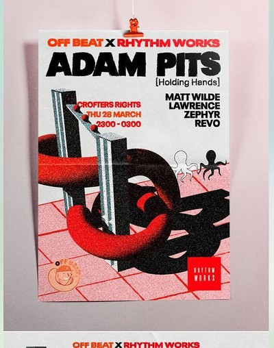 Off Beat x Rhythm Works: Adam Pits [Holding Hands] at Crofters Rights in Bristol