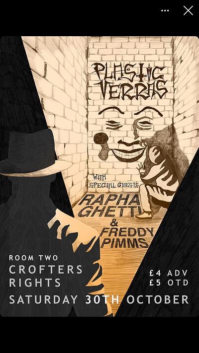 Plastic Terras w/ Rapha Ghetti & Freddy Pimms at Crofters Rights in Bristol