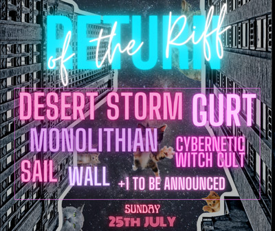 Return of the Riff: Desert Storm Edition at Crofters Rights in Bristol