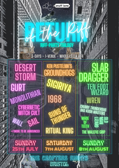 Return of the Riff: Slabdragger Edition at Crofters Rights in Bristol