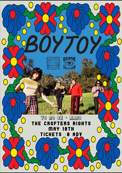Stolen Body/Bristol Psych Fest Presents: BOYTOY at Crofters Rights in Bristol