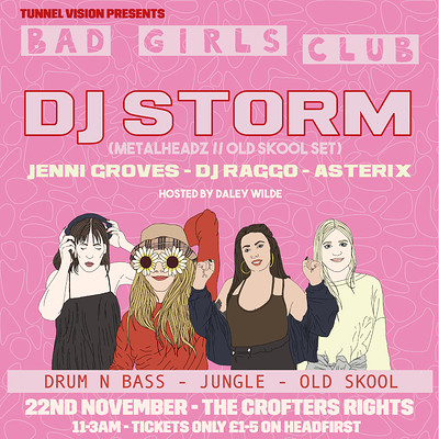 Tunnel Vision: Bad Girls Club w/ DJ Storm  at Crofters Rights in Bristol