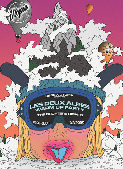 UBSC x Utopia Presents: Les Deux Alpes Warm Up at Crofters Rights in Bristol