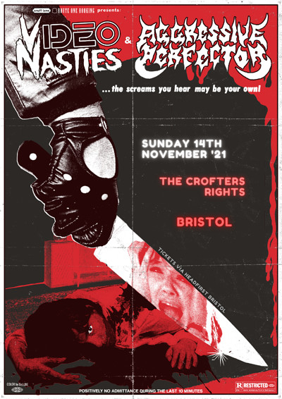 Video Nasties / Aggressive Perfector / Support at Crofters Rights in Bristol