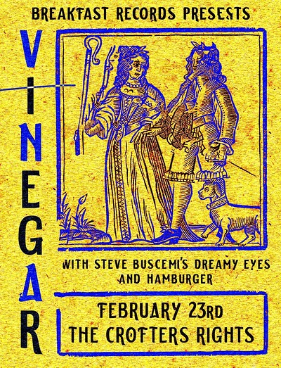 Vinegar, Steve Buscemi's Dreamy Eyes & Hamburger at Crofters Rights in Bristol