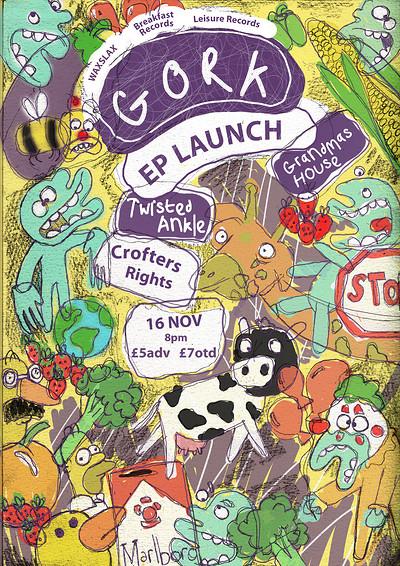 Waxslax, Breakfast & Leisure: GORK EP Laun at Crofters Rights in Bristol