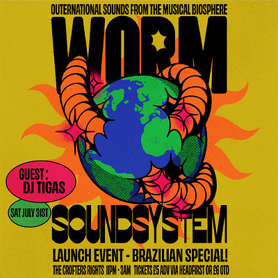 Worm Soundsystem - Brazilian Special with DJ Tigas at Crofters Rights in Bristol
