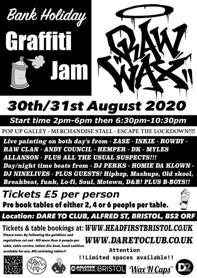 Graffiti Jam at Dare to Club in Bristol