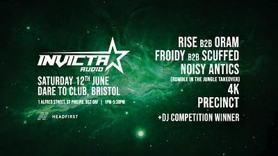 Invicta Audio Presents: Rise b2b Oram, 4K, Scuffed at Dare to Club in Bristol