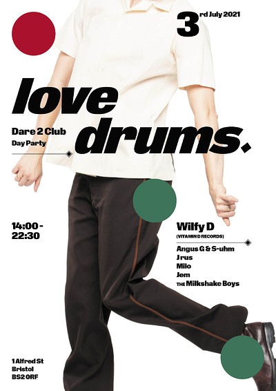 Love Drums Day Party at Dare 2 Club  at Dare to Club in Bristol