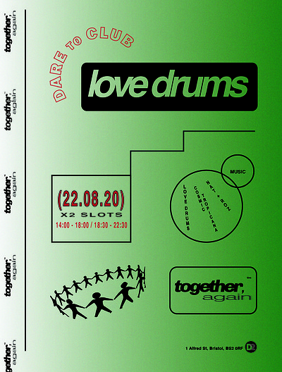 Love Drums Together Again at Dare to Club in Bristol