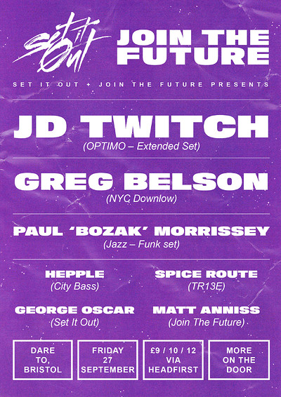 Set It Out presents Join The Future at Dare to Club in Bristol