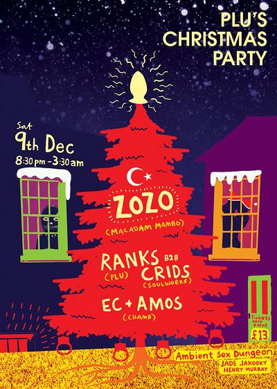 PLU'S Christmas Party with ZOZO (Macadam Mambo) at DARE in Bristol