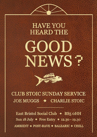 CANCELLED:Club Stoic Sunday Service with Joe Muggs at East Bristol Social Club in Bristol