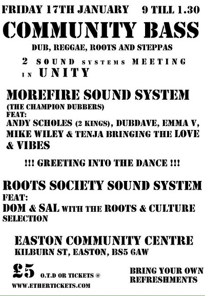 Community Bass at Easton Community Centre in Bristol