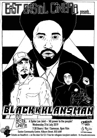 East Bristol Cinema presents BlacKkKlansman at Easton Community Centre in Bristol
