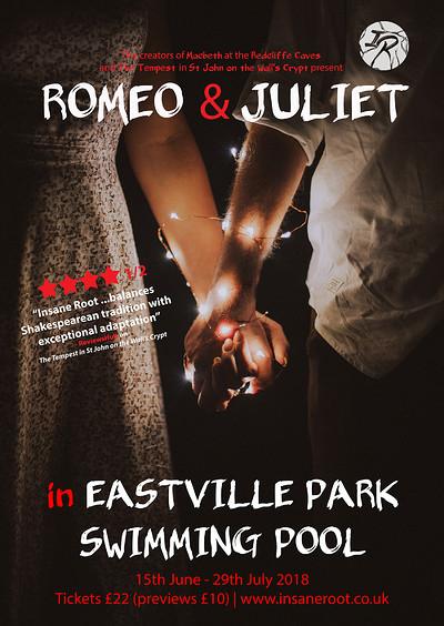 Romeo & Juliet in Eastville Park Swimming Pool at Eastville Park Swimming Pool in Bristol