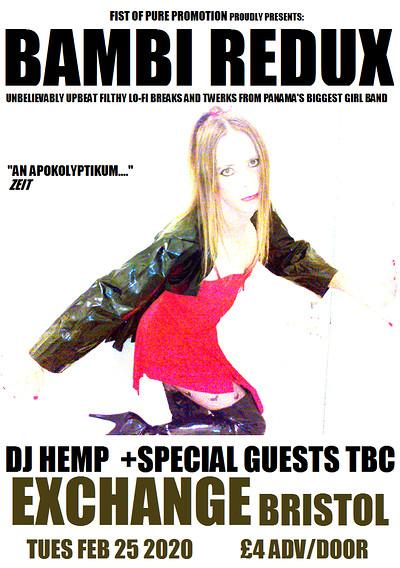 BAMBI REDUX plus DJ HEMP and MONKSILVER at Exchange in Bristol