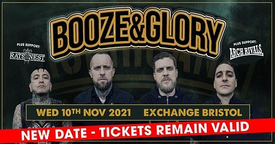 Booze & Glory at Exchange in Bristol