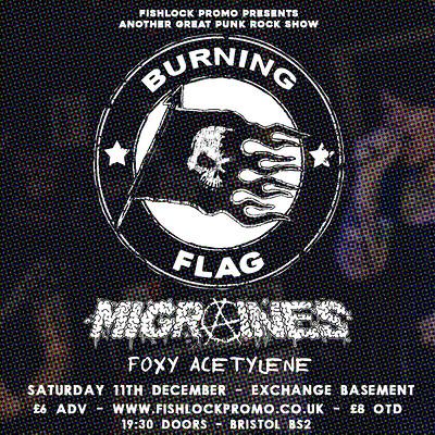 Burning Flag at Exchange in Bristol