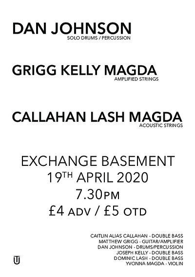 Cancelled - Dan Johnson + G K M + C L M at Exchange in Bristol