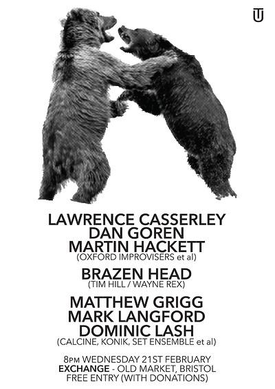 CASSERLEY / GOREN / HACKETT, BRAZEN HEAD, G/L/L at Exchange in Bristol