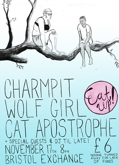Charmpit, Wolf Girl, Cat Apostrophe, DJs. at Exchange in Bristol