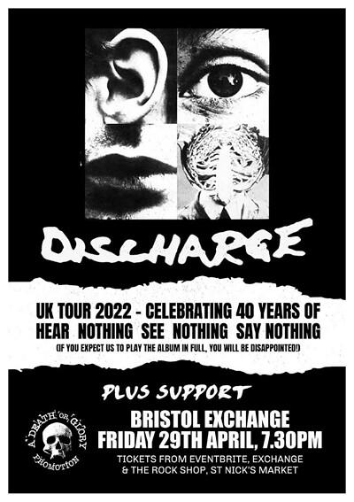 Discharge at Exchange in Bristol