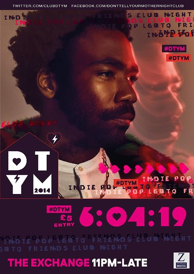 DTYM - Saturday 6th April at Exchange in Bristol