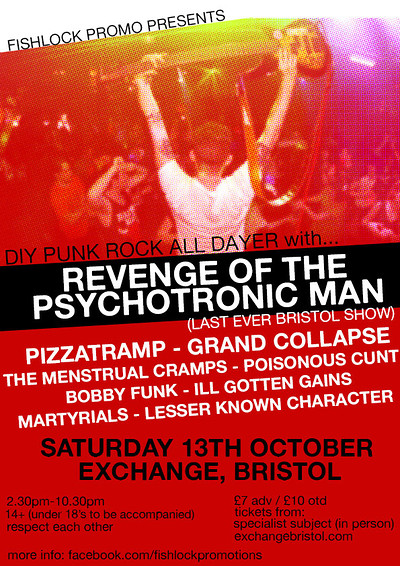 Fishlock Promo DIY Punk All Dayer at Exchange in Bristol