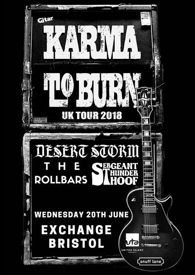 Karma To Burn / Desert Storm / More Support at Exchange in Bristol