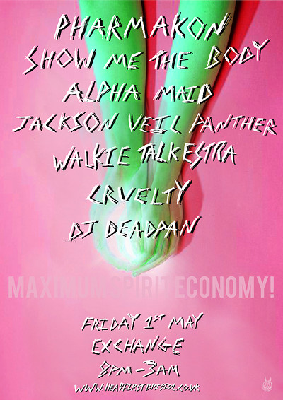 MSE2! PHARMAKON + SHOW  ME THE BODY + MANY MORE at Exchange in Bristol