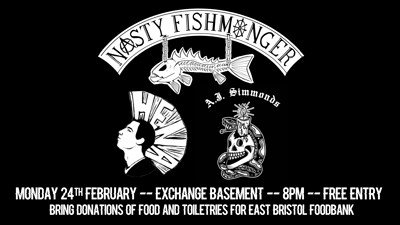 Nasty Fishmonger & Friends Charity Basement Bash at Exchange in Bristol