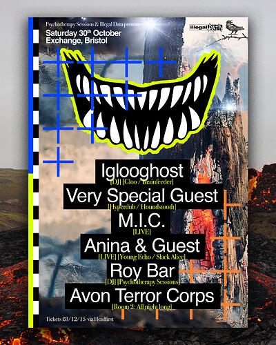 PTS x Illegal Data ϟ Halloween • Iglooghost +++ at Exchange in Bristol