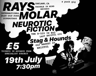RAYS / MOLAR / NEUROTIC FICTION  at Exchange in Bristol
