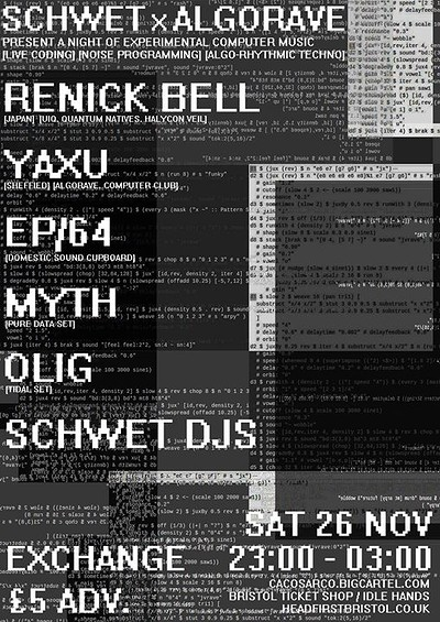 Schwet x Algorave at Exchange in Bristol