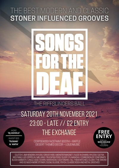 Songs for The Deaf at Exchange in Bristol