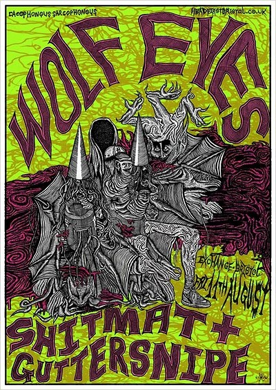 Wolf Eyes, Shitmat & Guttersnipe at Exchange in Bristol