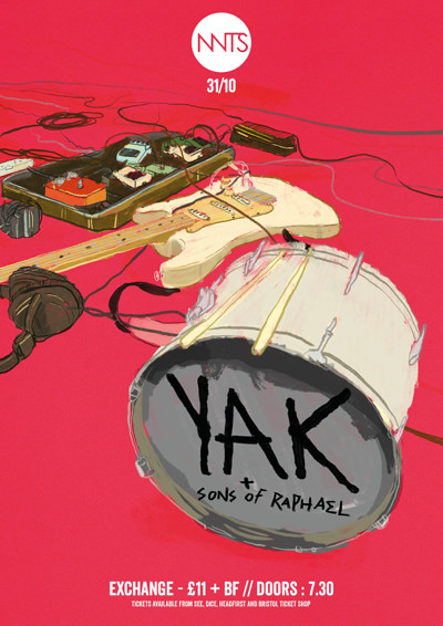 YAK + Sons of Raphael at Exchange in Bristol