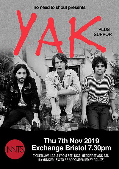 Yak at Exchange in Bristol