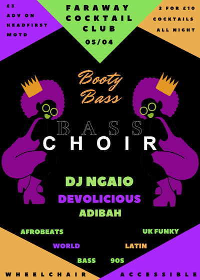 Booty Bass feat Bass Choir at Faraway Cocktail Club in Bristol