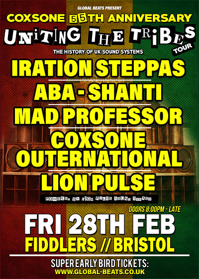 "Coxsone's 55th Anniversary - ""Uniting The Tribes""  at Fiddlers in Bristol"