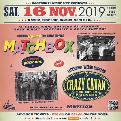 Matchbox & Crazy Cavan 'n' the Rythm Rockers  at Fiddlers in Bristol