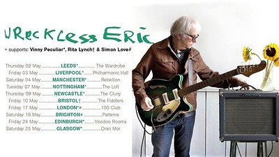Rita Lunch, Wreckless Eric, Simon love, + more. at Fiddlers in Bristol