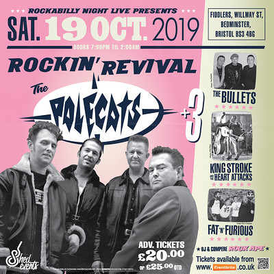 The Rockin' Revival: Polecats plus 3 at Fiddlers in Bristol