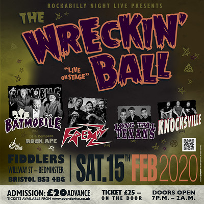 The Wrecking Ball - Psychobilly Extravaganza at Fiddlers in Bristol