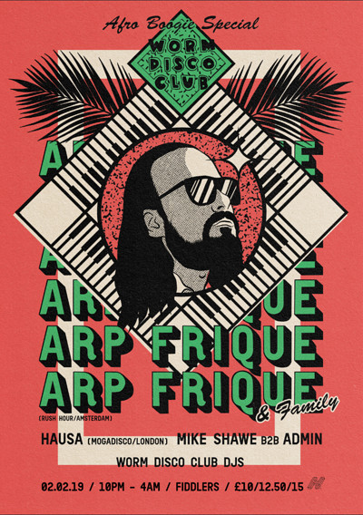 """Worm Disco Club w/Arp Frique """"Afro-Boogie Special"""" at Fiddlers in Bristol"""