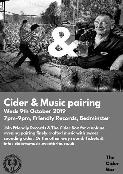 Cider & Music at Friendly Records Bar in Bristol